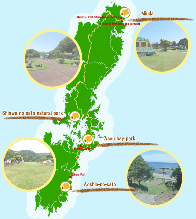 Campsite information map